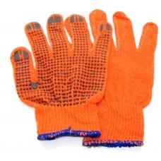 Рукавичка ПВХ 10К 4210 помаранчева (с ПВХ)